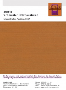 Holzart Kiefer KI 07