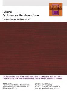 Holzart Kiefer KI 10