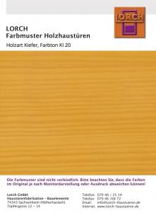 Holzart Kiefer KI 20