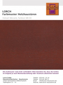 Holzart Meranti ME 03
