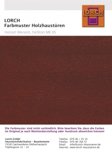 Holzart Meranti ME 05